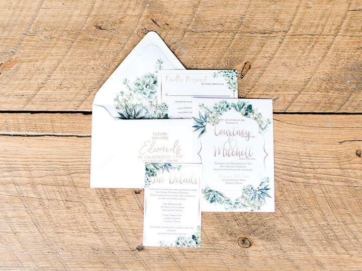 Tmx 1539278330 15e3de082ea803ea 1539278328 C9e38ceaffffa4b6 1539278196913 6 Harmony Hill Style Berwick, ME wedding invitation