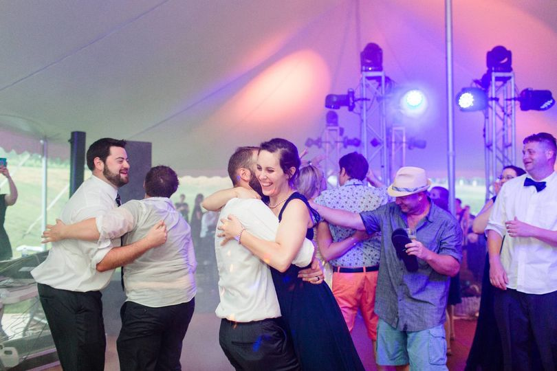 Marquee reception with DJ