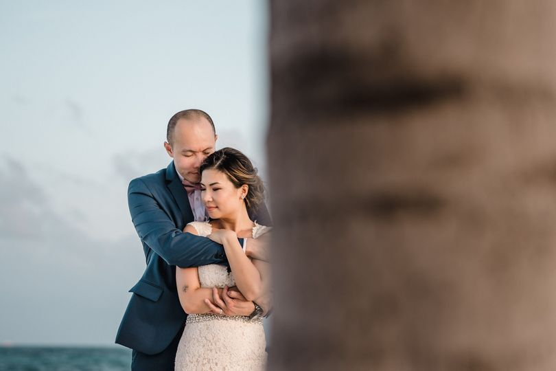 bride and groom portrait in cancun mexico destination weddings 51 915130 1568847080
