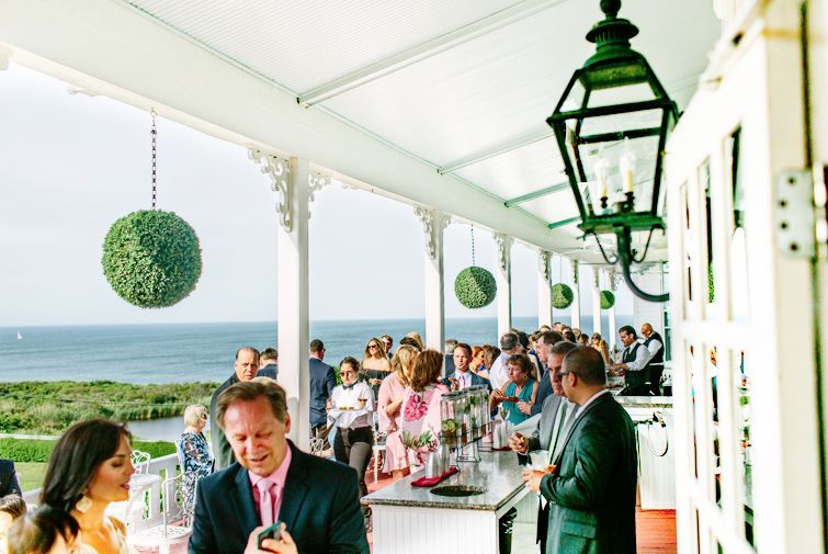 Ocean views at the reception