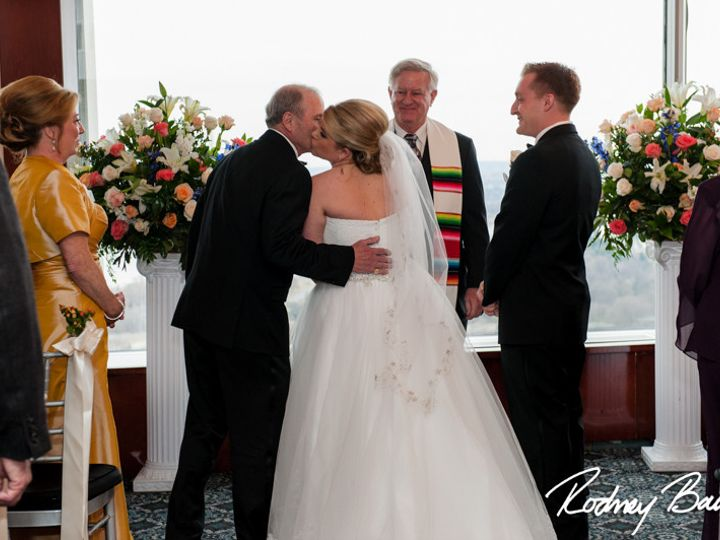 Tmx 1483986309414 0451reneeandpatrickweddingtopofthetownrodneybailey Clifton, VA wedding officiant
