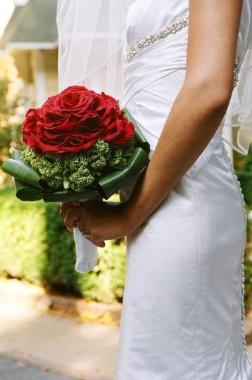 'Single' Rose bridal bouquet