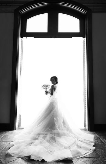 A Filipino Wedding at Garre Vineyard in Livermore CA. As she stood at the door to begin her walk...