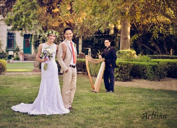 Rick Tan Harp The Yolanda Ranch - Woodland Artisan Wedding Photography