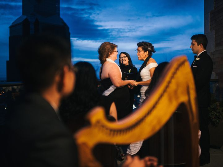 Tmx 1436459571396 Kim And Leslie Harp Officiant 5 Davis wedding ceremonymusic