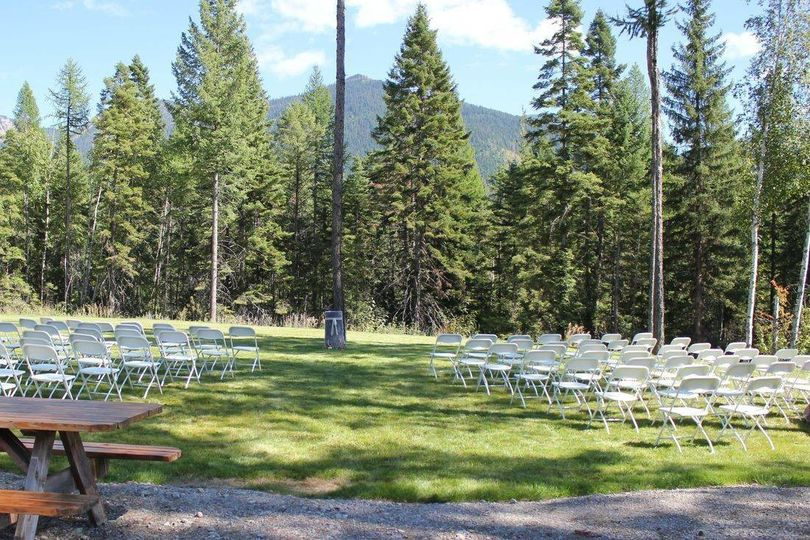 Outdoor weddings setup