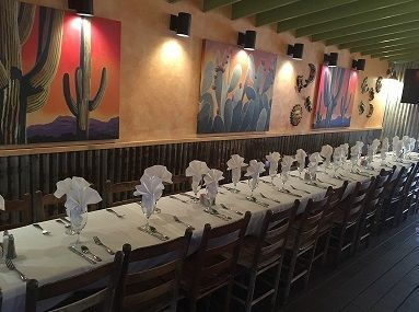 Our baja room, in the restaurant, for up to 30 guests