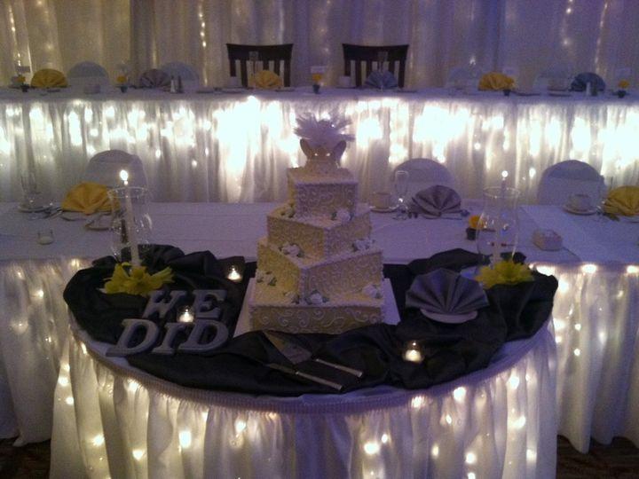 Tmx 1357765214634 WeddingCakeonIlluminatedCakeTable Henrietta, NY wedding venue