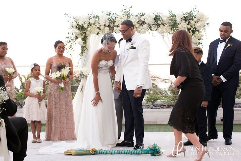 Ceremony at the miami beach edition hotel.