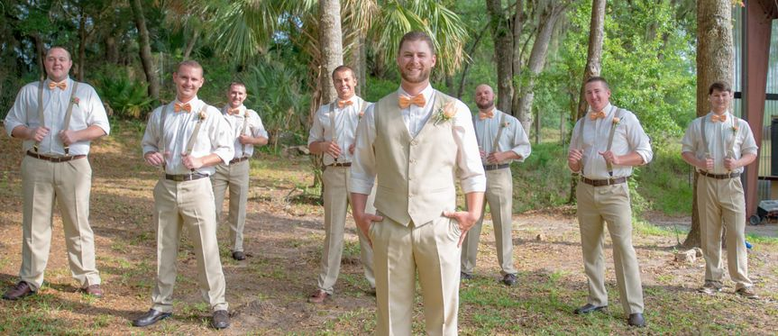 The groom and the groomsmen