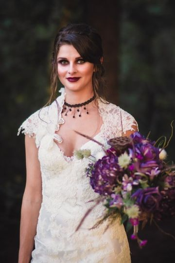 Gothic style bride