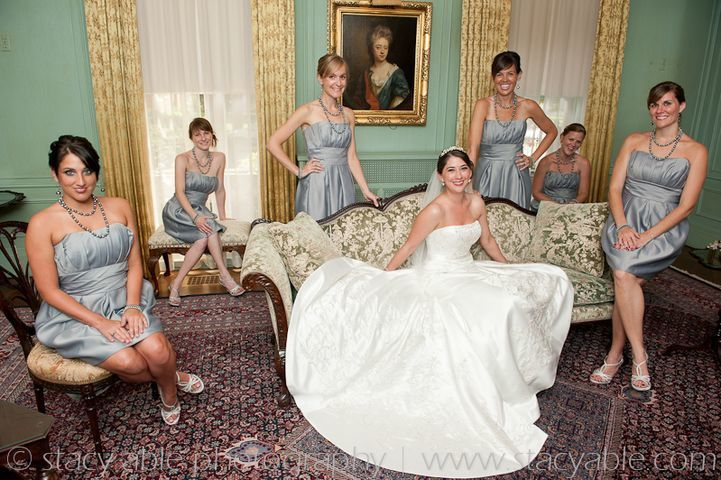 Girls in the parlor.