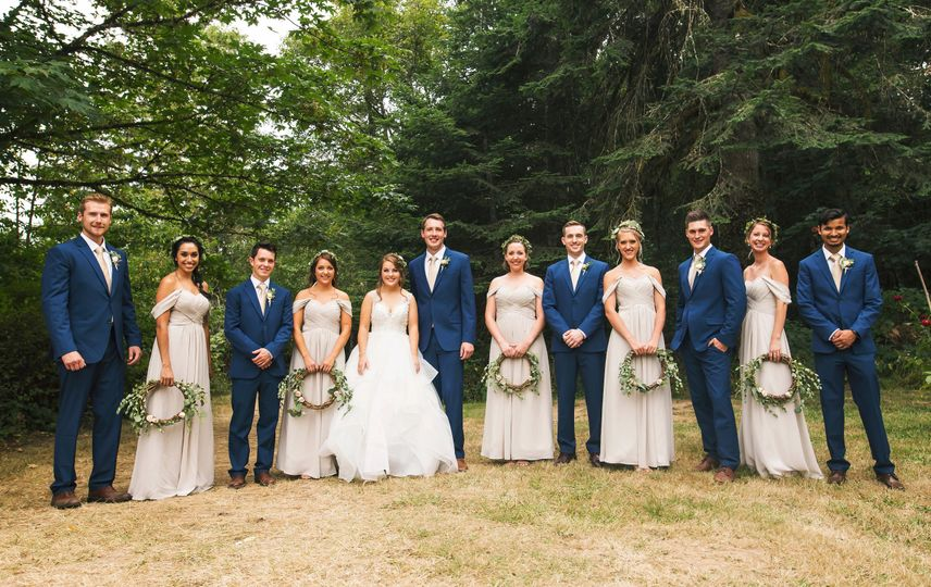 Bridal Party Group Formal