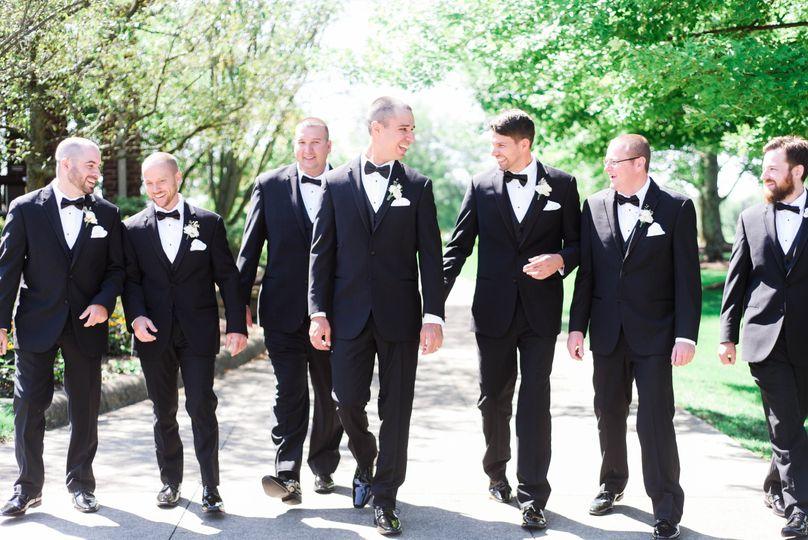 A sharp groomsmen crew