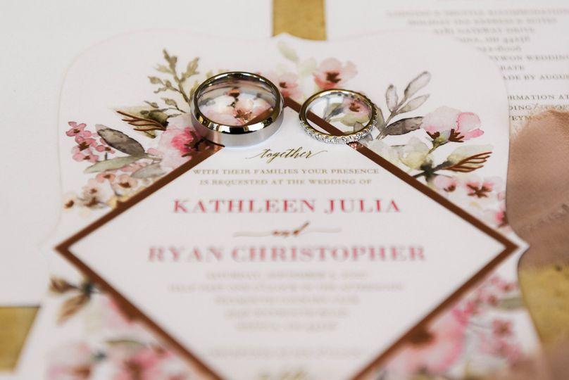 Rings on invitations
