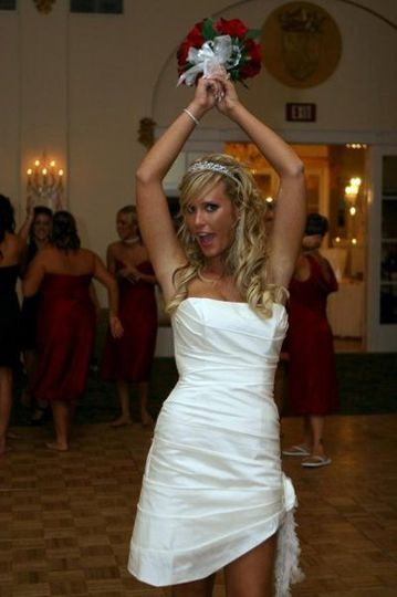 Partying bride