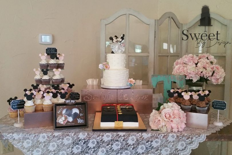Mickey mouse and marine themed cake table by sweet by design in melissa, tx