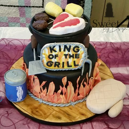Grill groom's cake by sweet by design in melissa, tx