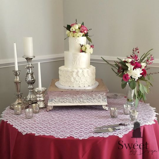 Buttercream rosette wedding cake by sweet by design in melissa, tx