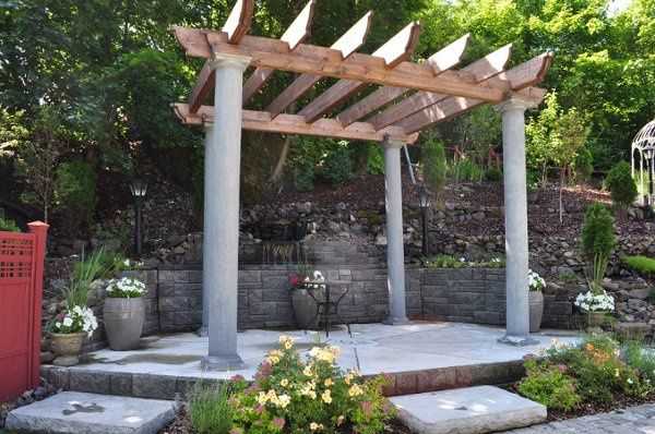 Outdoor wedding arboretum in the Glover Mansion's side yard. This area can be used during...