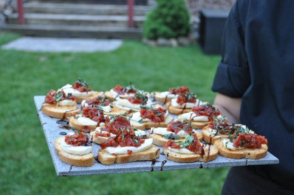 An example of the delicious catering that The Glover Mansion offers for your wedding, birthday bash,...
