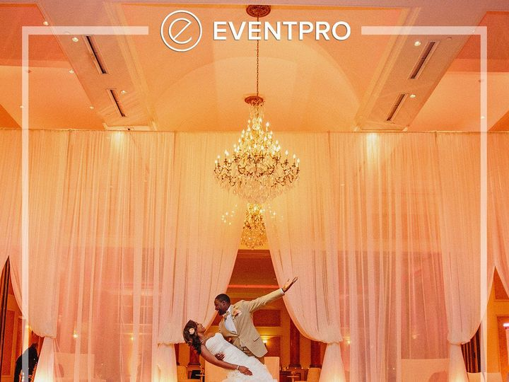 Tmx 1489893539390 Eventpro Weddingwire Drapery3 Glen Burnie wedding eventproduction