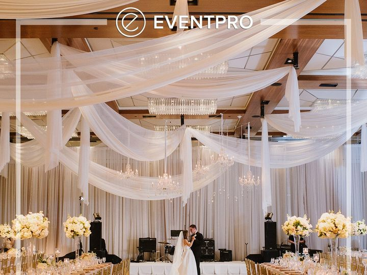 Tmx 1489902514230 Eventpro Weddingwire Ceilingtreatment1 Glen Burnie wedding eventproduction