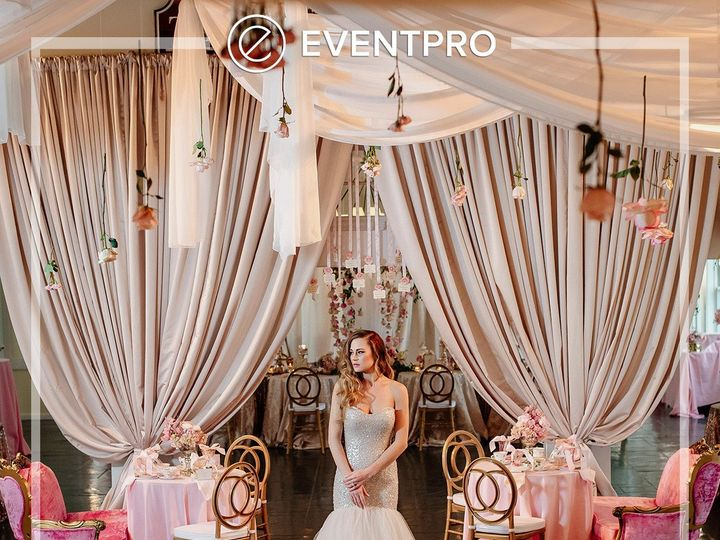 Tmx 1489902530136 Eventpro Weddingwire Ceilingtreatment2 Glen Burnie wedding eventproduction