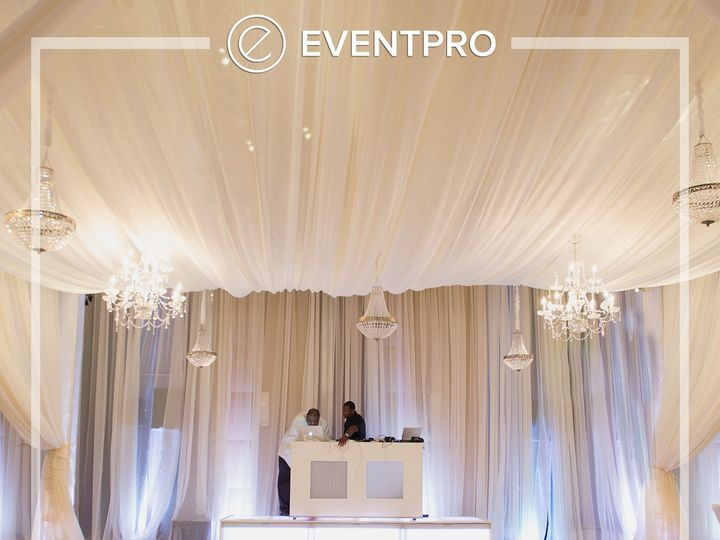 Tmx 1489903984191 Eventpro Weddingwire Ceilingtreatment3 Glen Burnie wedding eventproduction