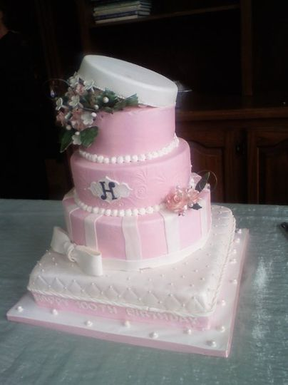 Birthday cake, designed for a Lady turning 100 yrs.