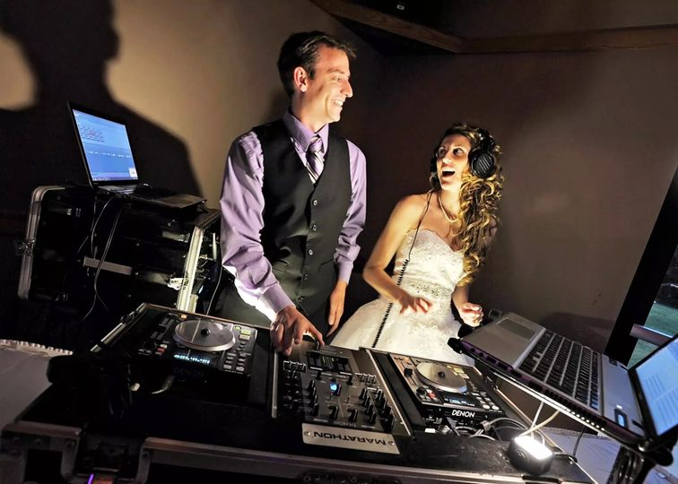 The bride with DJ