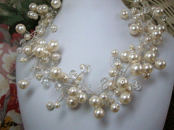 Tmx 1312346370292 PearlandCrystalBridalnecklace Greeley wedding jewelry