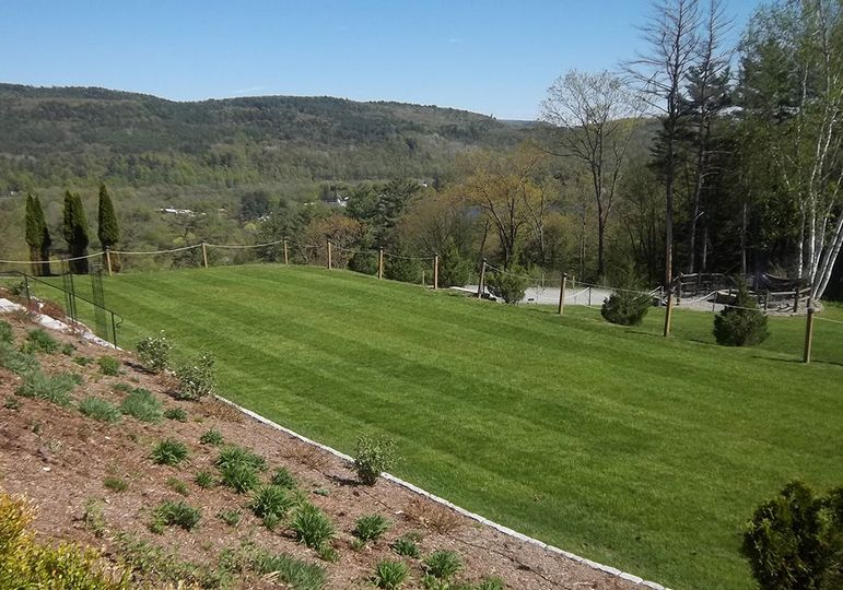 Lawn and game area