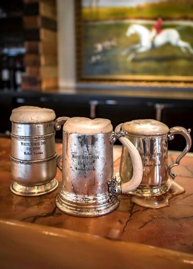 wh andrew pewter cups