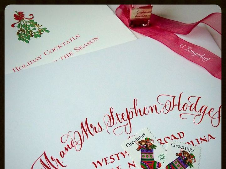 Tmx 1448055547069 Env Red Hendersonville wedding invitation