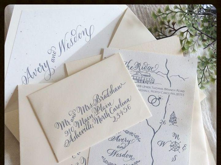 Tmx 1448055563680 Invite W Map Hendersonville wedding invitation