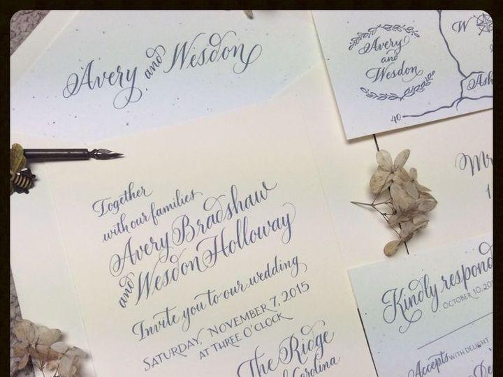 Tmx 1448055571337 Invite Hendersonville wedding invitation