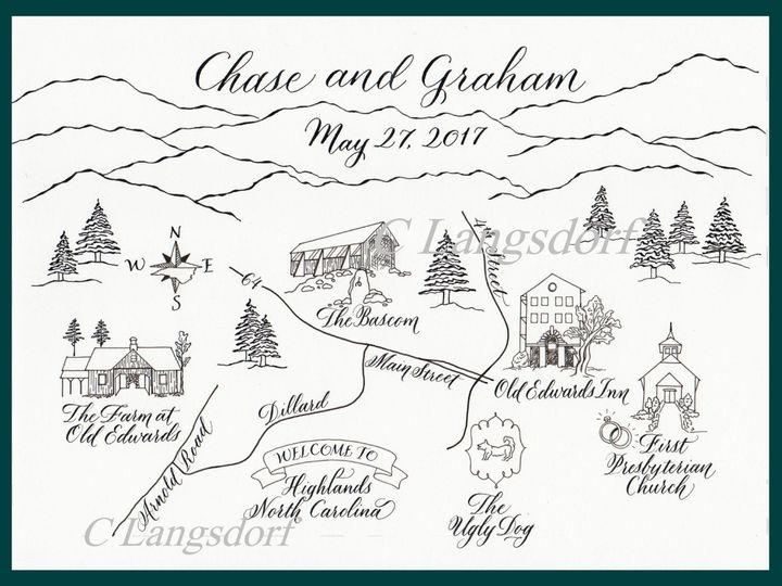 Tmx 1491426821543 Highlands Map Hendersonville wedding invitation