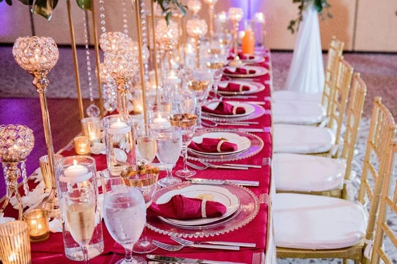 Bridal Party table design