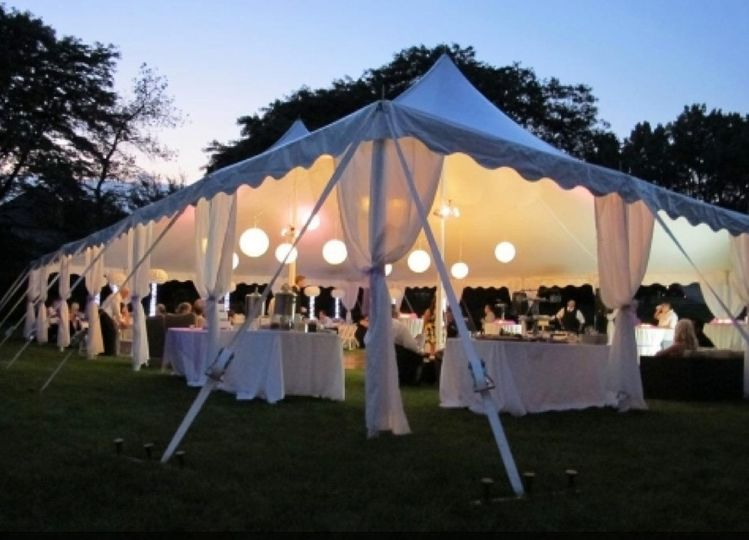 40x60 hp pole tent paper lanterns with lights