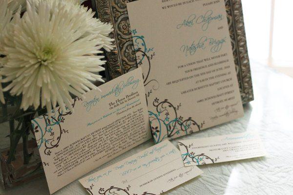Floral Scrolls Invite Template