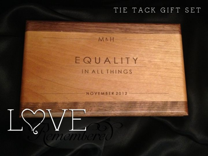 This tie tack gift set was created as a Christmas/Engagement gift for a groom-to-be. This gorgeous...