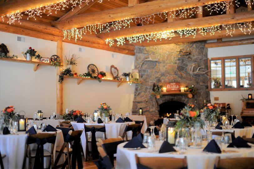 Indoor banquet hall.