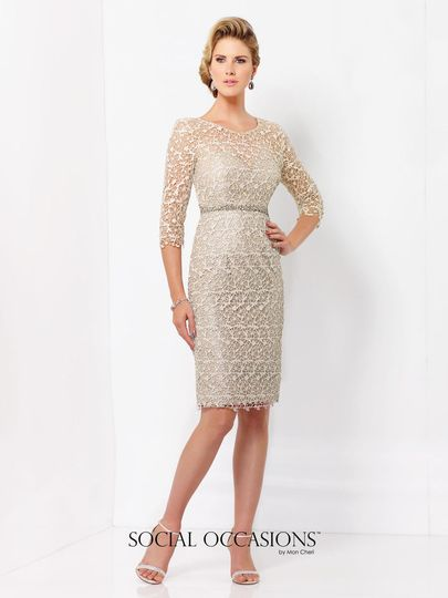 580aadc58f1 Classy beige dress Lace dress with long sleeves