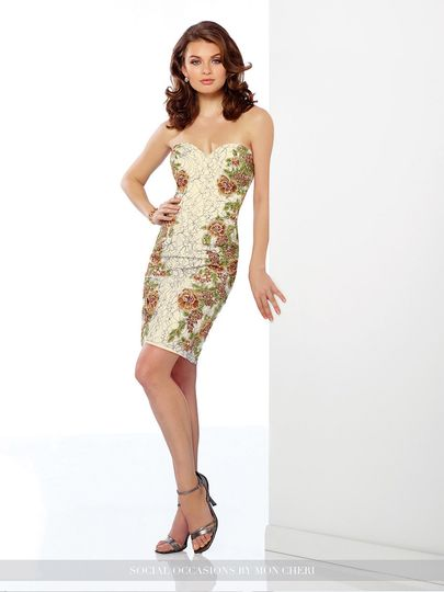 Fitted strapless dress