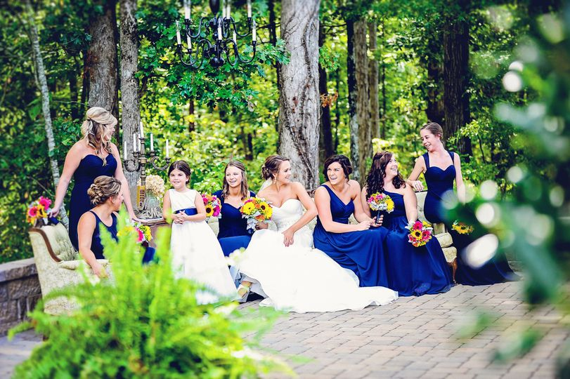 Blue wedding motif