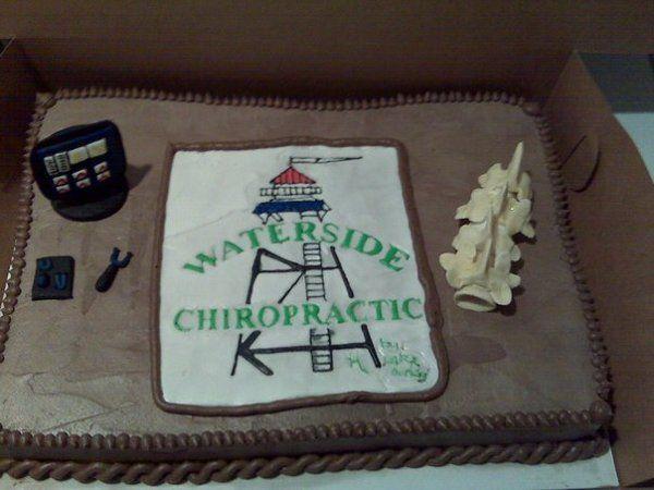 Grooms Cake Vertical Standing Chiropractor