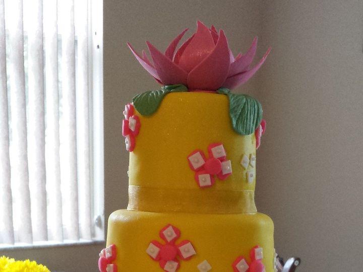 Tmx 1401146868378 Pink And Yello Tampa, FL wedding cake