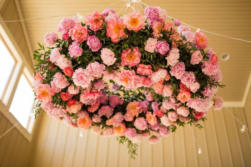 Floral ceiling wreath