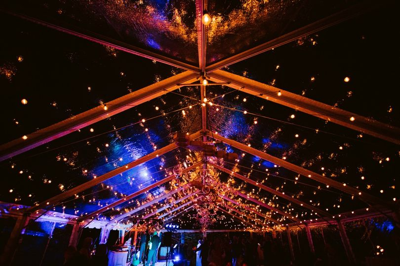 Clear tent lighting